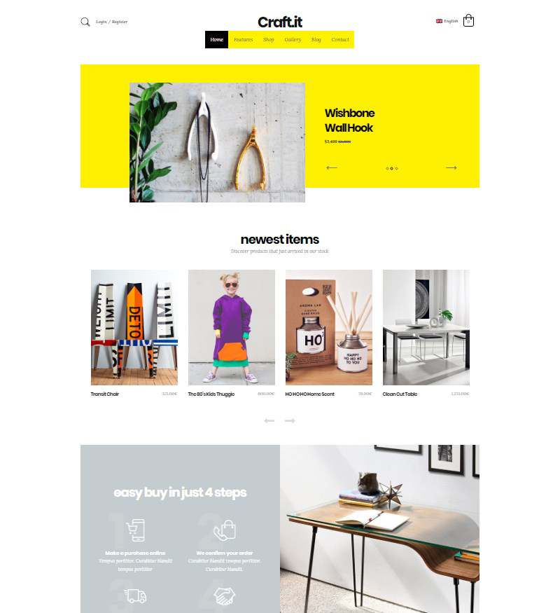 Craftit WordPress handmade shop theme
