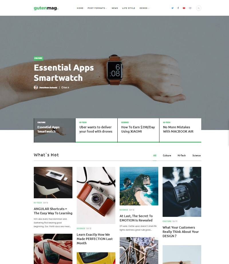 GutenMag news magazine and blog WordPress theme