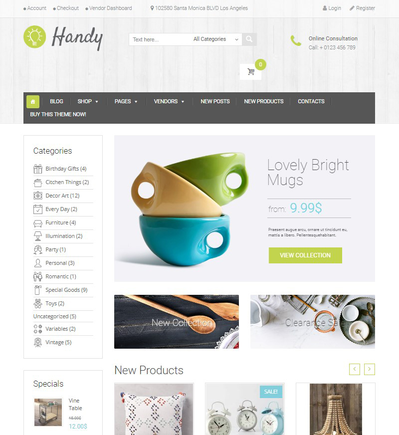Handy handmade WordPress theme