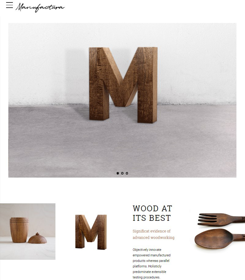Manufactura WordPress theme for handmade goods