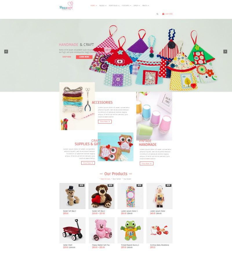 Passion handmade marketplace WordPress theme