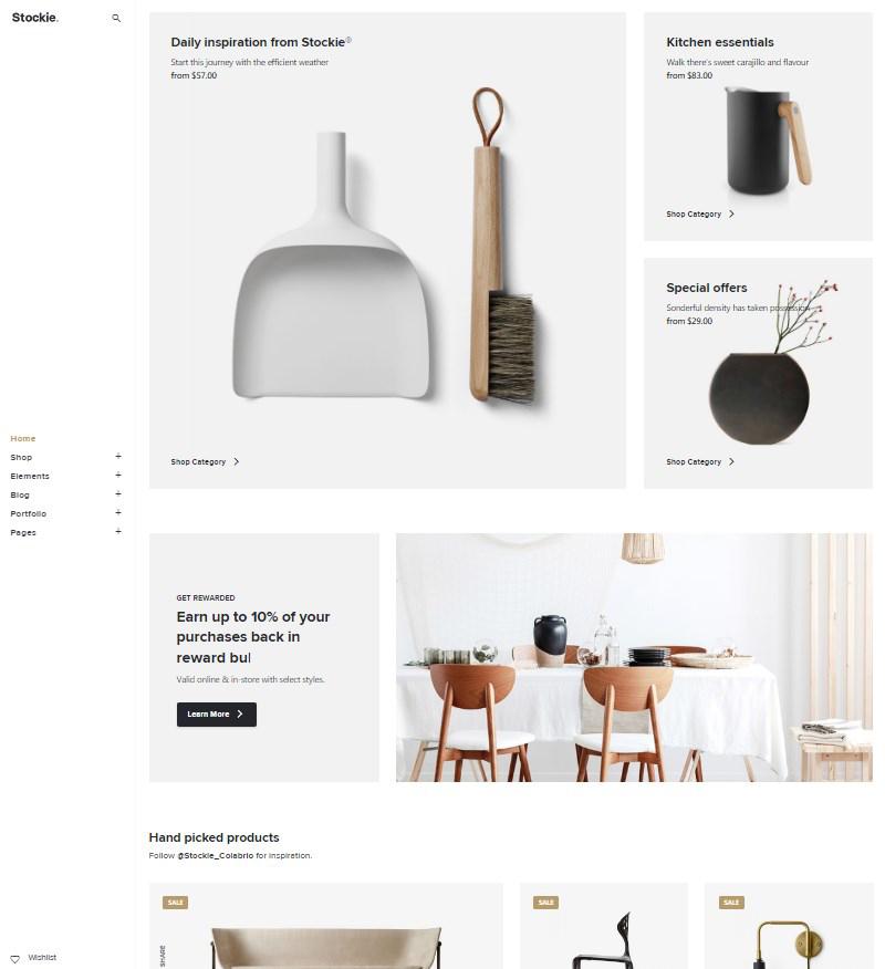 Stockie WordPress shop theme
