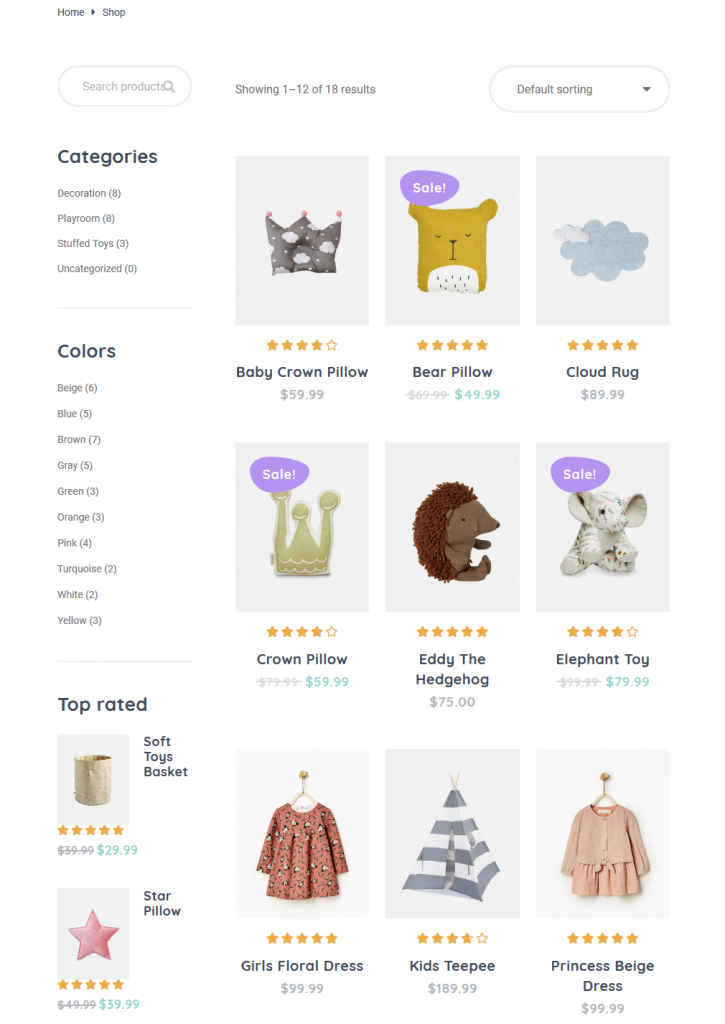 Handmade WordPress Theme bimba shop
