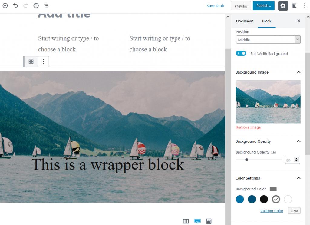 gutenberg blocks plugins wrapper