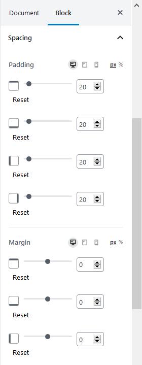 ultimate block spacing