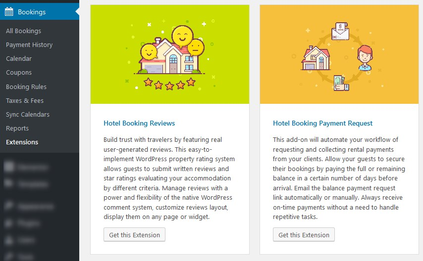 extensions wordpress hotel booking