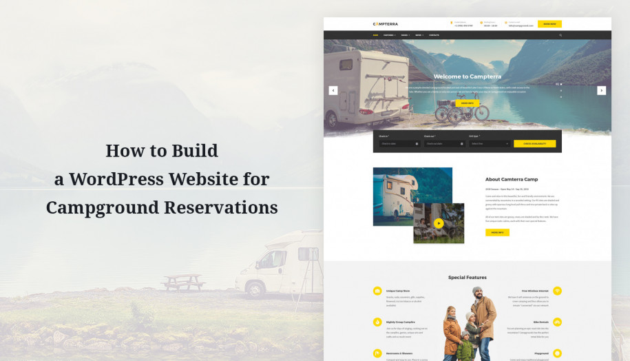 wordpress camping website