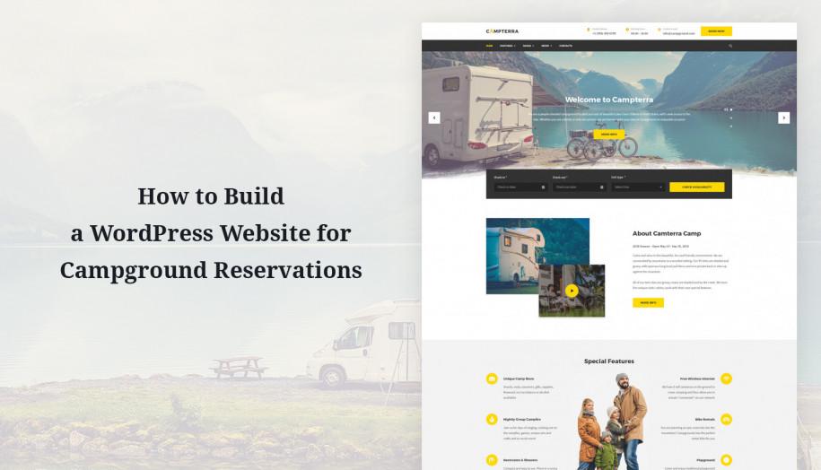 wordpress camping website