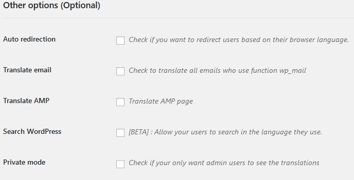 extra settings weglot website translator