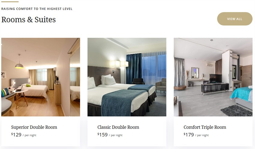 front page rooms luviana