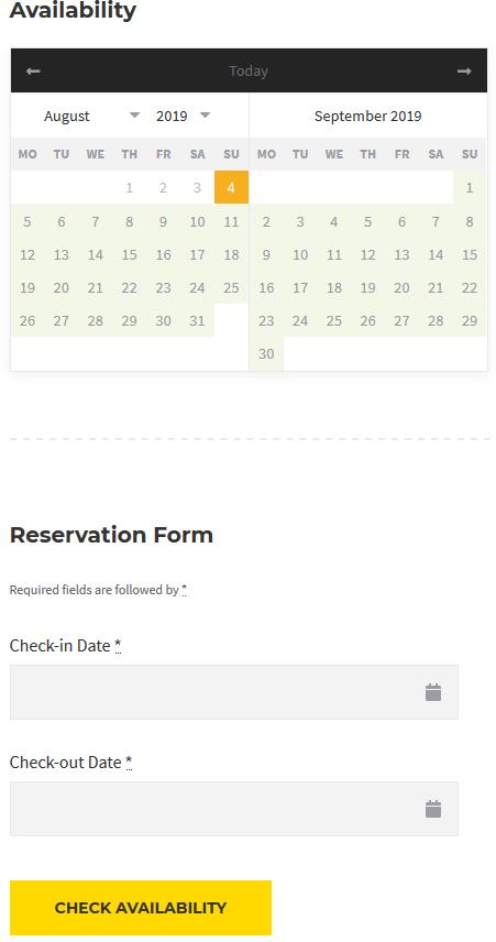 individual availability calendar
