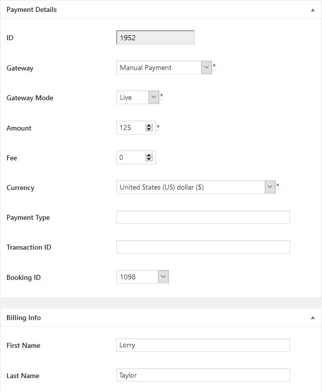 manual payment