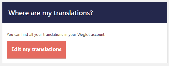 notification about translation account