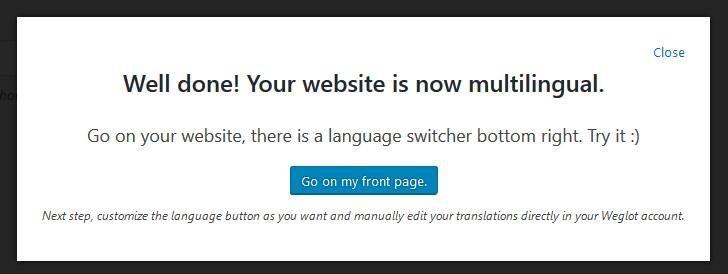 prompt multilingual website translator