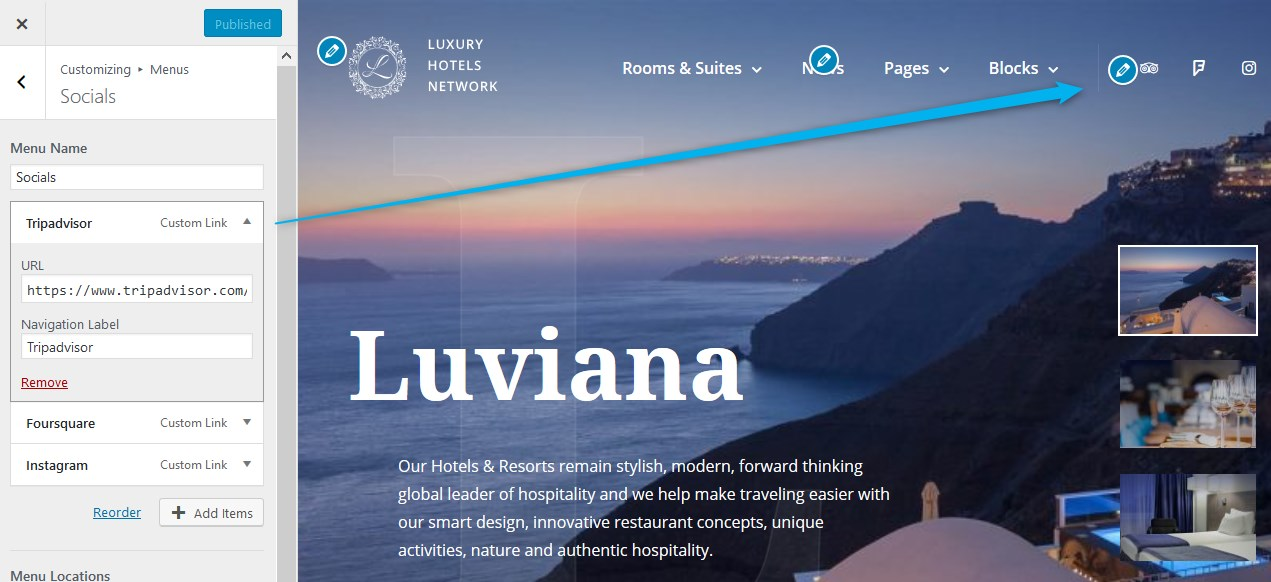 social icons luviana