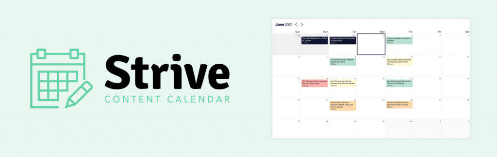 strive editorial calendar plugin