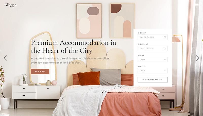 Alloggio Hotel Booking theme