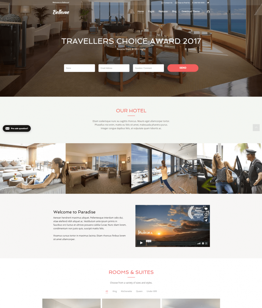 WordPress hotel themes