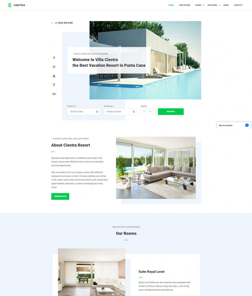 Ciestra WordPress hotel themes