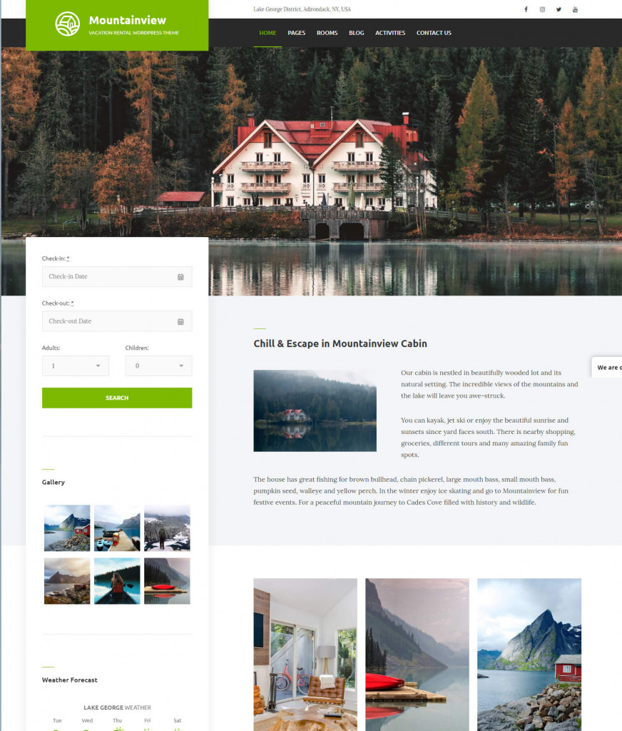 WordPress hotel themes