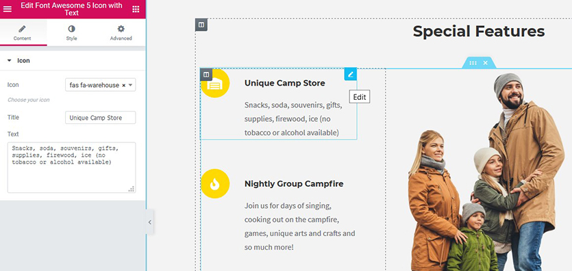 camping-wordpress-theme-elementor