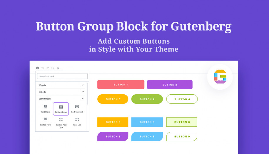 button gutenberg block