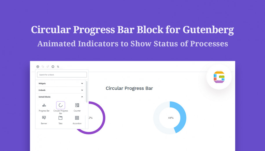 circular progress bar gutenberg block
