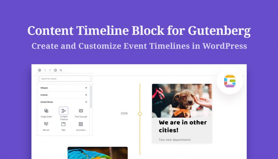content timeline block