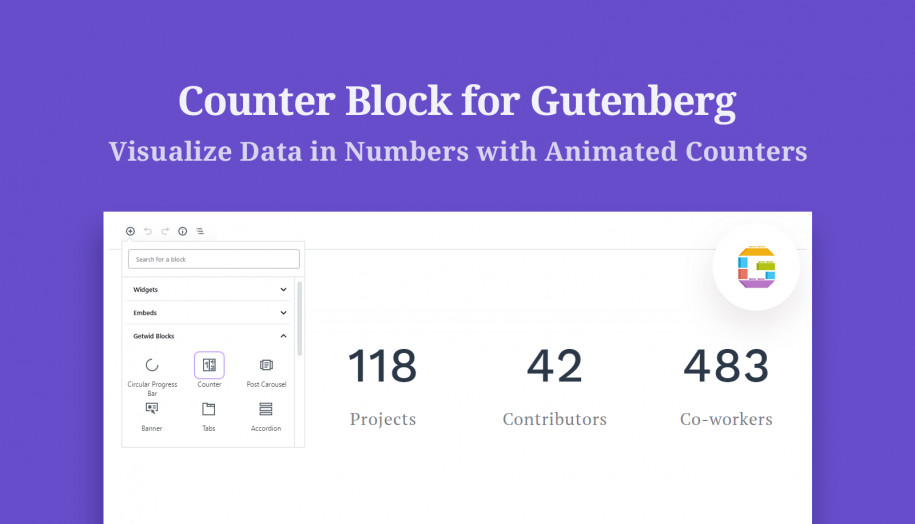 counter gutenberg block