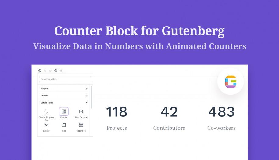 counter Gutenberg block