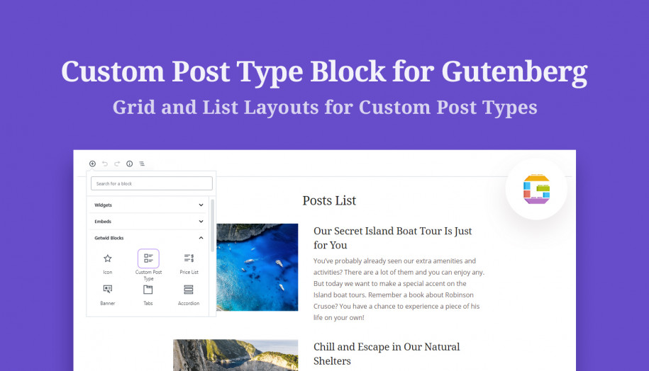 custom post type block