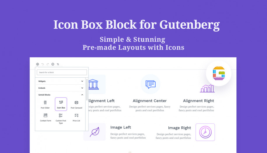 icon box gutenberg block