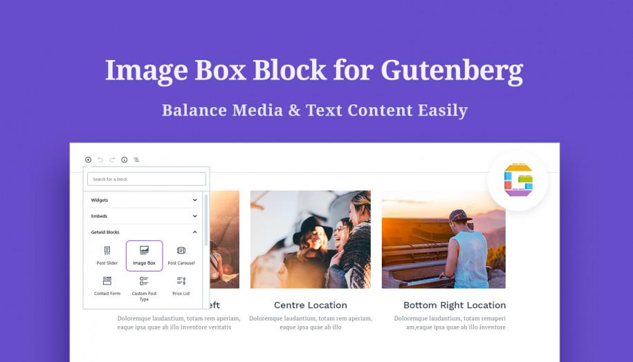 image box gutenberg block