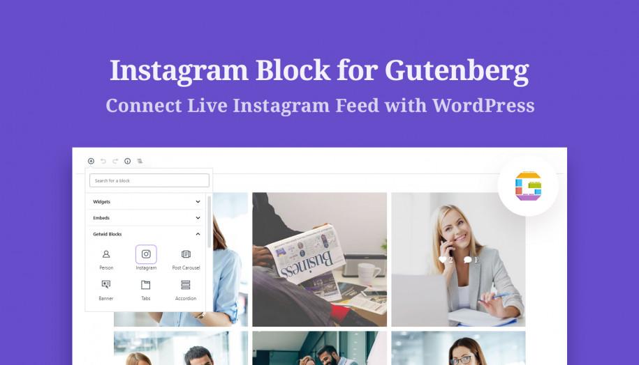 instagram gutenberg block