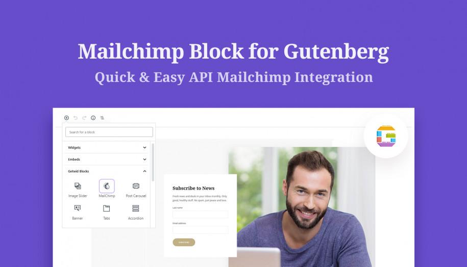 mailchimp gutenberg block