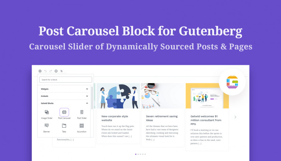 gutenberg post carousel block