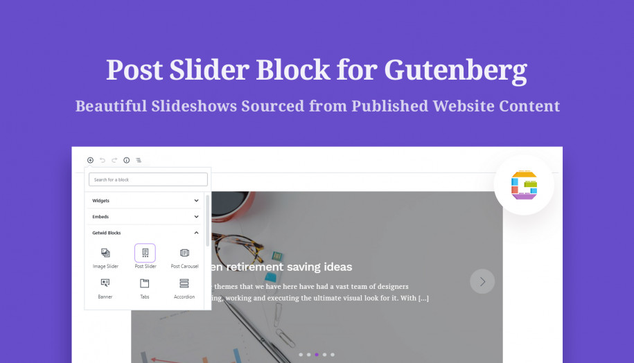 post slider gutenberg block