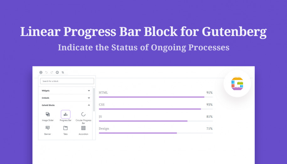 progress bar gutenberg block