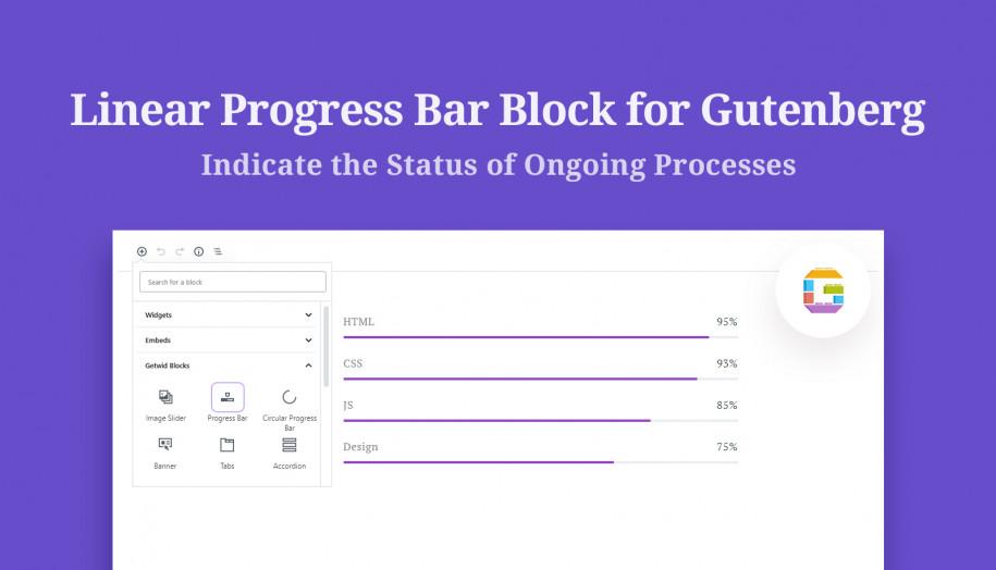 progress bar Gutenberg block