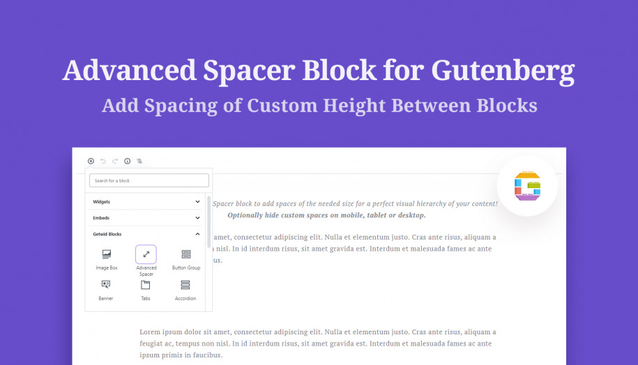 spacer gutenberg block