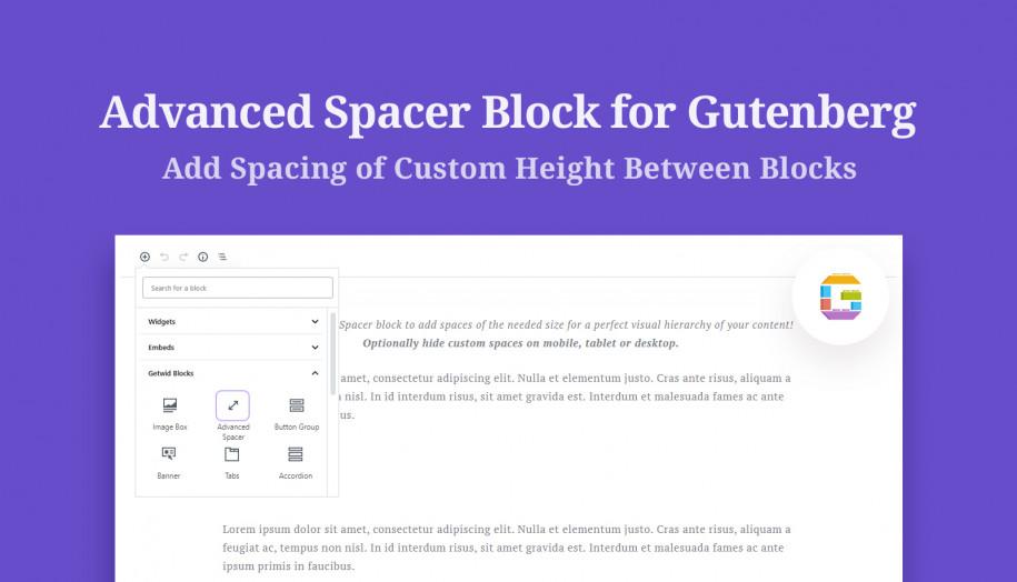 spacer Gutenberg block
