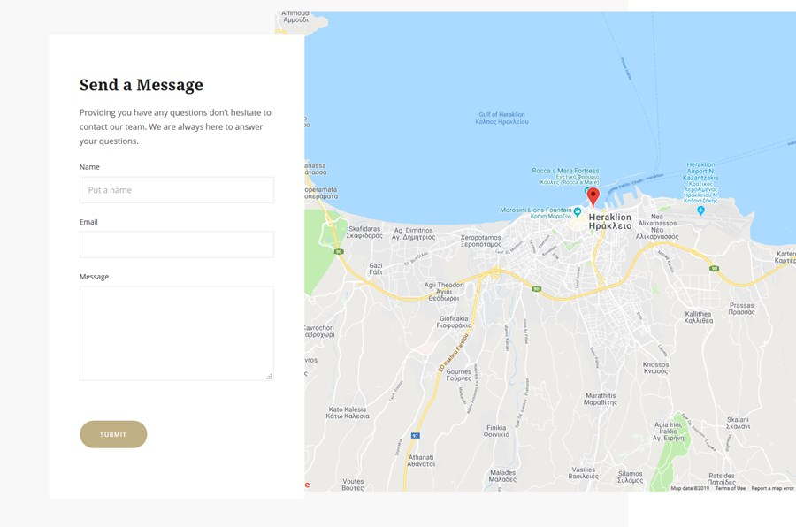 google maps contact form
