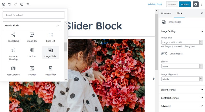 image slider block wordpress