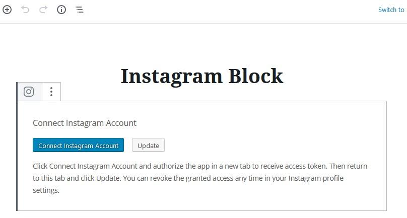 instagram not connected
