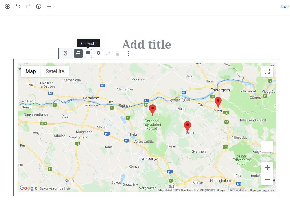 google map layouts wordpress blocks