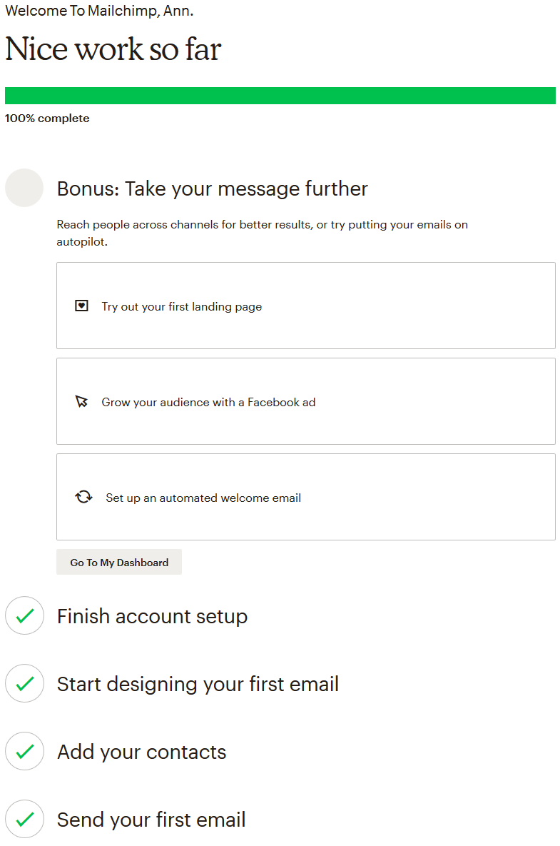 mailchimp instructions