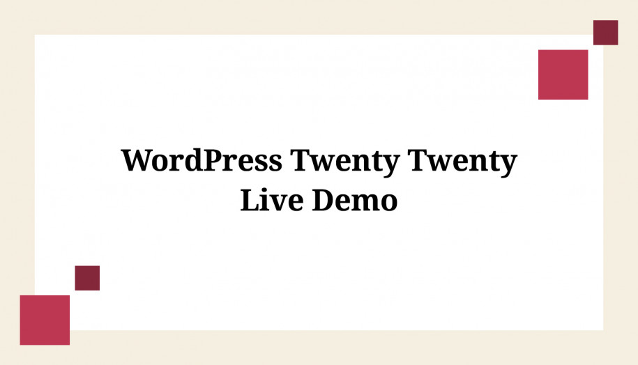 Twenty-Twenty-demo