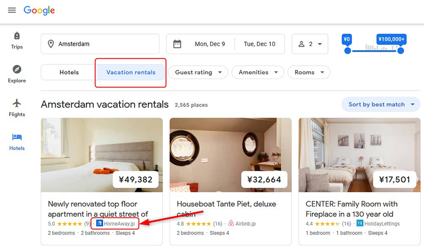 google-vacation-rentals