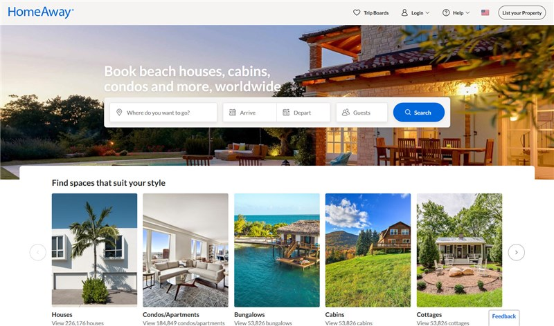 homeaway airbnb alternatives