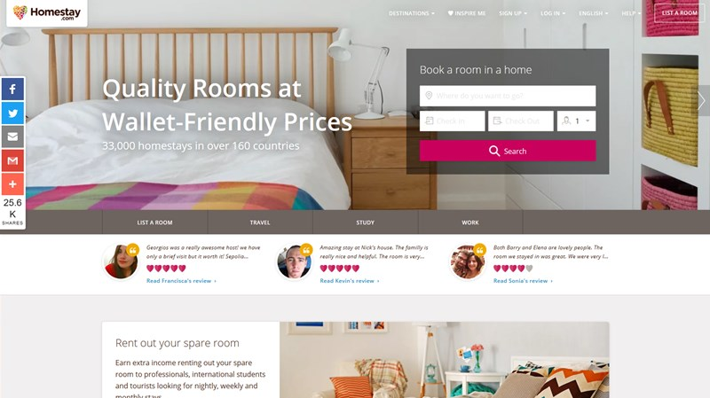 homestay airbnb alternatives